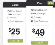 Pricing Tables by creattica (via Creattica)