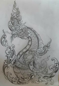 Thailand Art, Thailand Tattoo, Thai Art, Thai Style, Ink Illustrations, Angkor, Tattoo Inspiration, One Pic, Pencil Drawings