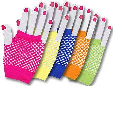 fishnet wrist gloves