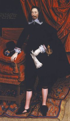 Portrait of Sir Thomas Pope, Later 3rd Earl of Downe circa 1635 by British School 17th century 1600-1699