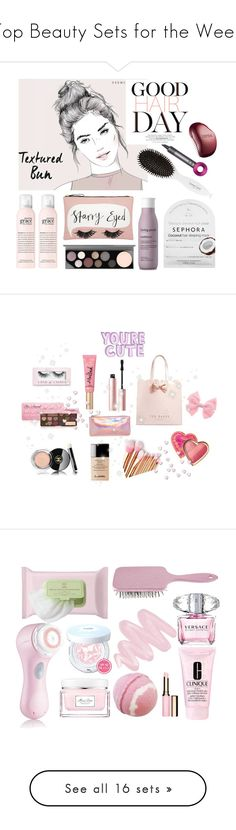 """Top Beauty Sets for the Week"" by polyvore ❤ liked on Polyvore featuring beauty, Accessorize, MAC Cosmetics, Leonor Greyl, Sephora Collection, Living Proof, Dyson, Tangle Teezer, Too Faced Cosmetics and Ted Baker"