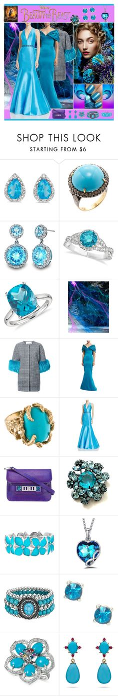 """Disney's 'Beauty and the Beast' Gown"" by yours-styling-best-friend ❤ liked on Polyvore featuring Amanda Rose Collection, Karma Jewels, Allurez, Blue Nile, Ava Adore, Zac Posen, ML Monique Lhuillier, Proenza Schouler, Disney and Mixit"