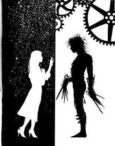 Edward Scissorhands- this pic reminds me of Neil Gaiman's work