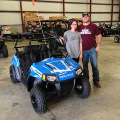 Thanks to Elizabeth and Jeffery Sullivan from Mize MS for getting a 2016 Polaris RZR 170 at Hattiesburg Cycles
