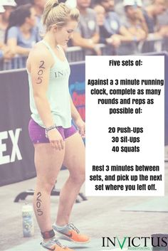 CrossFit Workouts by Invictus that you can do at the gym, in a hotel or at home! [Featuring CrossFit Games Athlete: Maddy Myers]