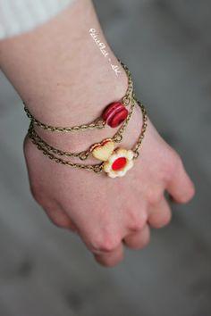 polymer clay cookie bracelets by PetitPlat