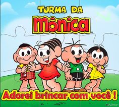 """In my childhood I grew up with many cartoons from USA, but especially with my dear """"Turma da Mônica"""" by Mauricio de Souza, Cartonista of Brazil. Memory Games, Bowser, Childhood Memories, Growing Up, Comics, Instagram Posts, Kids, Free, Blog"""