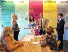8/24/16*The innovation wall offered Kate and William a chance to chat through ideas with those working within the charity