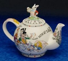 Alice in Wonderland Collectible Teapot - Roses And Teacups