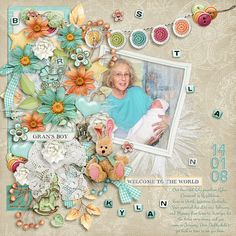 kimeric kreations: Welcome to the World - new this week....the April template and an awesome cluster!
