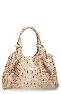 d93facb8b4fe Brahmin Elisa Croc Embossed Leather Shoulder Bag