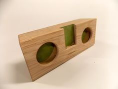 #Acoustic #Wood #Passive #Speaker for #iPhone . #MadeInItaly . #Accessories . #American #Red #Durmast