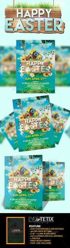 Happy Easter Flyer Psd Template Creative FlyerPsd Available - easter flyer template