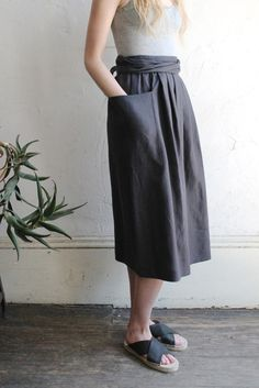 Image of Horses Atelier Patch Pocket Tie Skirt