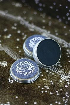 Eye Coal by FatandtheMoon // sweet almond oil*, black oxide powder, beeswax