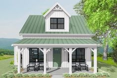 Cottage House Plans, Bedroom House Plans, Cottage Homes, Two Bedroom Tiny House, Cottage Ideas, Small House Floor Plans, Guest House Plans, Small Cottages, Small Cabins