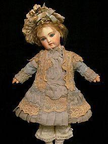 """French Coat Jacket Dress Bonnet fits 13"""" Antique Bebe or German (item #1287480)  #dollshopsunited"""