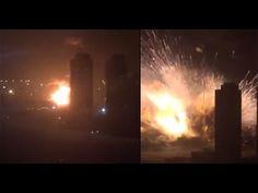 Tianjin Explosion Most Dramatic NEW FOOTAGE 12.08.2015  天津滨海新区码头剧烈爆炸已致7人死亡