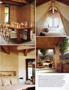 Rammed earth constructed home in St Helena