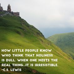 """""""How little people know who think that holiness is dull. When one meets the real thing…it is irresistible. Little People, Holi, Wisdom, Words, Quotes, Nature, Inspiration, Travel, Quotations"""