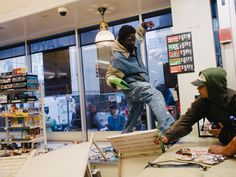 Want these photos inside 7-Eleven being looted in Baltimore to be ...
