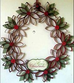 Kerst knutselen: mooie kerst krans!