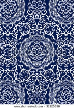 white east decorative pattern on a navy blue background