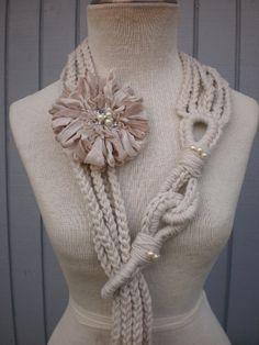 special Unique Design Necktie scarf neckwarmer by deniz03 on Etsy, $38.00