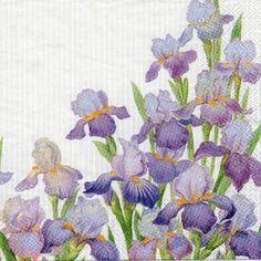 460  merveilleux iris   1 serviette papier format lunch