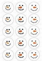 Image result for Free Printable Snowman Face Template