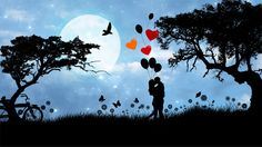 Love Landscape Silhouette by @GDJ, Love Landscape Silhouette from pixabay., on @openclipart