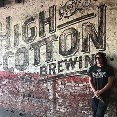 High Cotton had quite the evening since we had a killer trivia crowd. Did I mention Norman Reedus and Diane Kruger stopped in for a cold one too? Great end to a Friday Night! = High Cotton Brewing Co. Vintage Walls, Vintage Signs, Mural Art, Wall Murals, Game Room Bar, Vintage Industrial Decor, Industrial House, Outdoor Signs, Vintage Typography