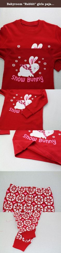 """Babyroom """"Rabbit"""" girls pajamas toddler kids long sleepwear cotton clothes size4t. Condition:100% brand new. Material:100% cotton Size:See title,4T Shirt length:16.5"""" Bust:23.2"""" Pants length:21.6"""" Color:See main picture Quantity:1 Set (Long Sleeve T ShirtLong Pants) You'll love these cute and comfy PJ's from Babyroom! The top features a Rabbit,Both top and bottom are made of soft cotton. When buying please consider that because it is snug fitting if your child is above average you should…"""