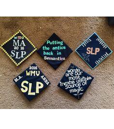 SLP Graduation Caps. WMU