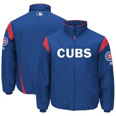 0927307f86a Chicago Cubs On-Field Therma Base™ Thermal Full-Zip Jacket By Majestic   ChicagoCubs  Cubs  MLB  EverybodyIn.