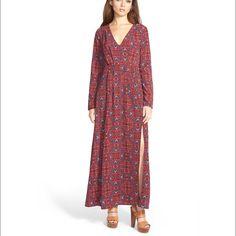 june & hudson floral maxi dress long sleeve floral maxi with side slit by june & hudson sz M june & hudson Dresses Maxi