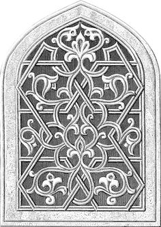 Today I'm sharing this Vintage Gothic Arch Window Architectural Clip Art! This is a black and white or grayscale architectural drawing of a window with a Gothic Pointed Arch. There is scrolled fretwork, sometimes called curvilinear tracery, with a Fleur de Lis accent at top.  So nice to use in your Craft or Collage Projects! Have you...Read More »
