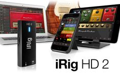 iRig HD 2 Digital Guitar Interface Is A Professional Recording Studio In Your Pocket -  #guitar #music