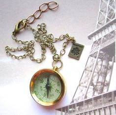 Point Me To Paris necklace.  Love this!!  $24.00.  http://www.etsy.com/listing/150350851/point-me-to-paris?ref=shop_home_active