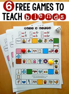 6 free games for teaching beginning blends