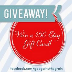 Etsy gift card giveaway from Go Against the Grain!