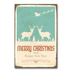 """weihnachtliche Wanddekoration Blechschild """"merry christmas"""" / ca. 30x45 cm / Weihnachtsdeko / vintage Cuadros Lifestyle http://www.amazon.de/dp/B00PAIWESS/ref=cm_sw_r_pi_dp_SIYyub15H9PA1"""