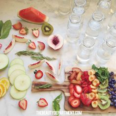 Fruit Infused Waters// Beauty Department