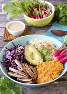 Assiette complète végétale et sans gluten – Sauce tahin #vegan #sansgluten | Green Cuisine