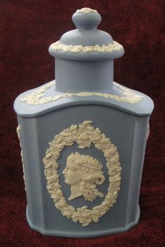 Wedgwood Blue White Jasperware Tea Caddy