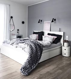 """15.6k Likes, 93 Comments - Klara (@kajastef) on Instagram: """"Morning bedroom..unmade bed is more cozy I think lovely day dear people:) . . #interiorstyling…"""""""