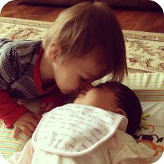 The beauty of a kiss - Sibling Love.