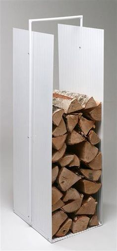 Bild på Vedkorg Ventura Clean Vit Fire Wood, Firewood Storage, Sweet Home, House Ideas, Cleaning, Crafts, Indoor Firewood Storage, Manualidades, House Beautiful