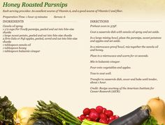 Honey Roasted Parsnips at http://www.miedemaproduce.com/