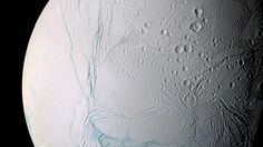 The scars of time and space mark the surface of Saturn& moon Enceladus. Saturn has at least 62 moons in its orbit. Facts About Saturn, Project Mercury, Saturns Moons, Saturn Planet, Universe Today, Nasa Astronauts, Space Program, Astrophysics, Space Shuttle